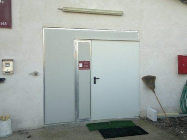 porta tamburata verniciata
