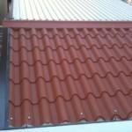 tetto coibentato finto coppo rosso