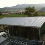 tettoia in pannelli coibentati