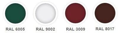 colori lamiera grecata 40 250 rosso verde bianco marrone