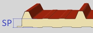 spessore pannello coibentato grecato