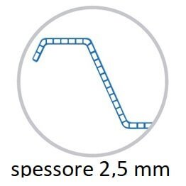 policarbonato microalveolare 2,5 mm