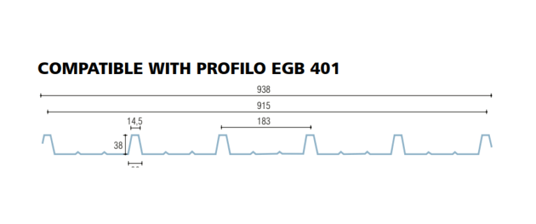 policarbonato compatto grecato compatibile egb 401