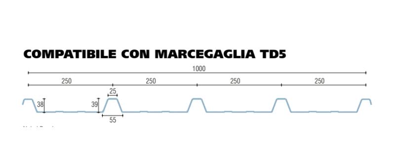 policarbonato microalveolare grecato compatibile con marcegaglia td5
