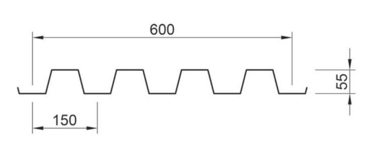 profilo lamiera grecata sand A55 P600