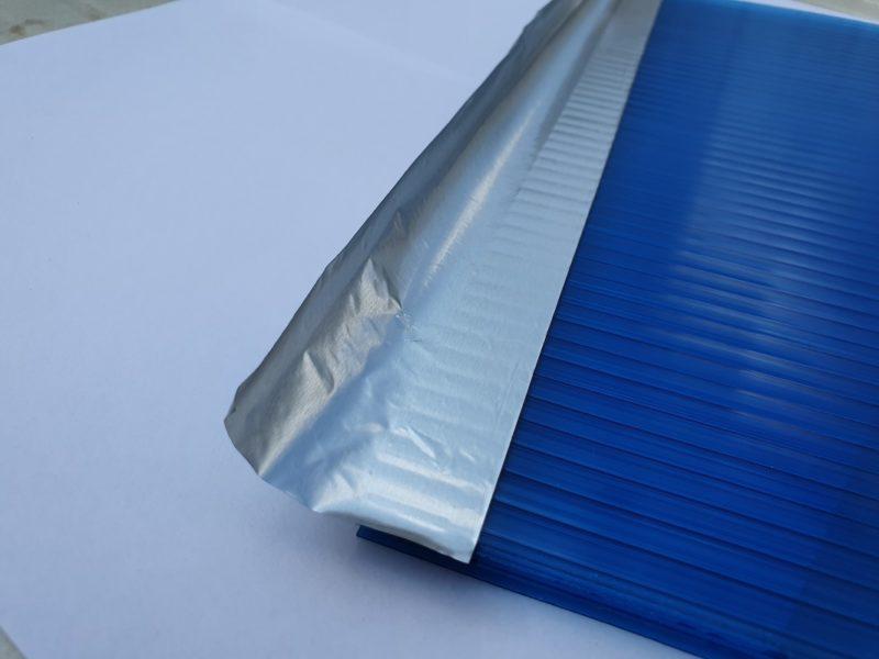 nastro alluminio applicato sul lato alveolare