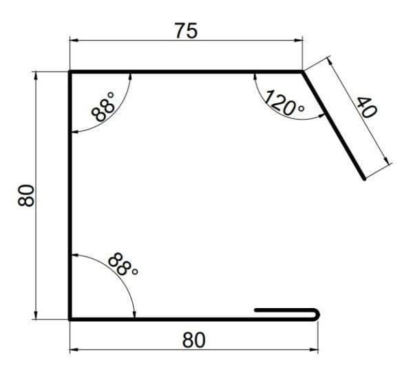 scossalina laterale pannelli coibentati grecati